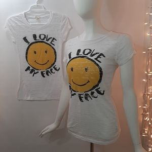 2FER Deal! Small & Large I LOVE MY FACE T-Shirts
